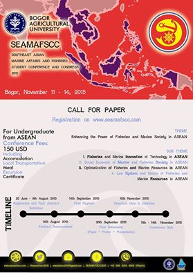 Southeast Asian Marine Affairs and Fisheries Student Conference and Congress (SEAMAFSCC) 2015.