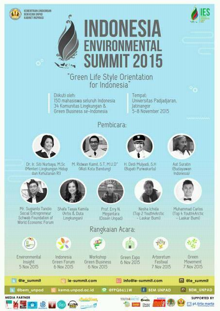 "IES 2015 ""Green Life Style Orientation for Indonesia (GLORY)"""