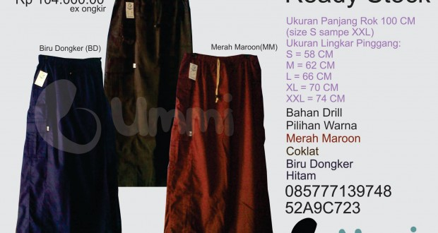 "Ready Stock Rok Lapang ""Ummi"""