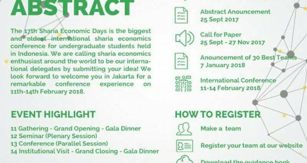 The 17th Sharia Economics Days – International Conference on Sharia Economics
