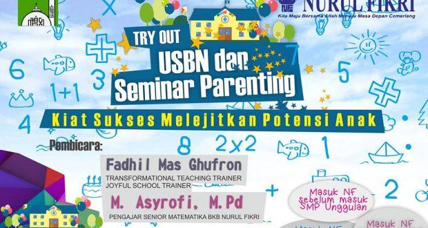 BKB Nurul Fikri Adakan Tryout USBN Final dan Seminar Parenting untuk Siswa SD se-Jakarta Timur