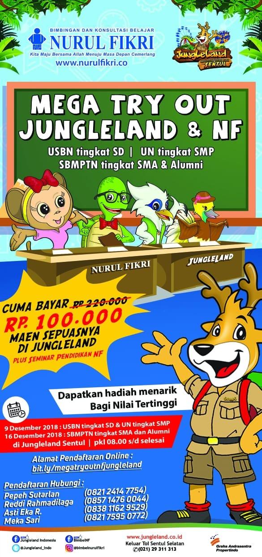 Murahh!!! Dengan 100.000 kamu bisa Try Out sekaligus Maen Sepuasnya di Jungleland!