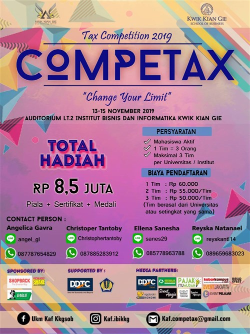 "Tax Competition 2019 : Competax ""Change Your Limit"""